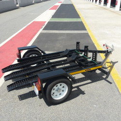 Low Bed Double Bike Trailer